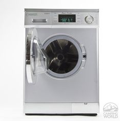 Equator 1.57 cu.ft. Compact Convertible Super Washer with Venting/Condensing Drying, Silver - Equator Advanced Appliances EZ 4000 CV SILVER - Washer & Dryer Combos - Camping World