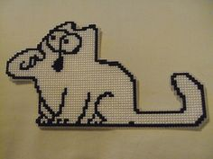 Simon's Cat cross-stitch.