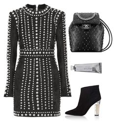 """Pearls"" by cherieaustin ❤ liked on Polyvore featuring Stella Luna, Balmain and Bloomingville"