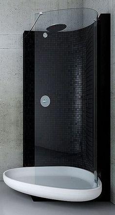 Tegelstroken Betonlook  Small Bathroom  Kleine Badkamer  Pinterest Classy Bathroom Bazaar Design Ideas