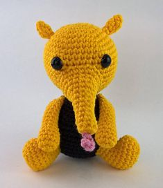 Anteater Amigurumi Pattern  Brazilian Jungle Friends