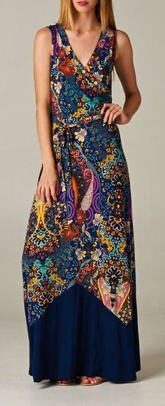 Madeline Surplice Dress, not my style but the colors are beautiful!!