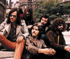 John Kay (far left), singer/songwriter/guitarist and lead singer with Steppenwolf turns 71 today - he was born 4-12 in 1944. Some of his best known lead vocals include the Steppenwolf songs Born To Be Wild, The Pusher and Magic Carpet Ride.