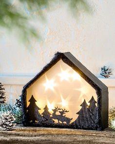 Téli erdő hangulatvilágítással - Art-Export webáruház