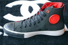 Contrast Color CT Converse Chuck Taylor All Star Black Zip High Tops Red Black Mens Canvas Sneakers Converse All Star, Converse Chucks, Converse Chuck Taylor All Star, Vans, Mode Shoes, Men's Shoes, Shoe Boots, Sneakers Fashion, Fashion Shoes