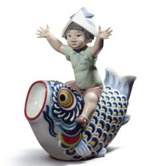 Lladro • 01008775 • Happy Koinobori • Limited edition of 3500 pieces ➔  £810  ☎ +44 20 7494 0407 ☛ 194 Picadilly, London, W1J 9EX