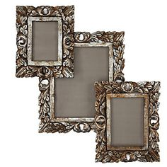 Florentine Frames in Antiqued Champagne evokes the grand style of opulent Italian pieces. $14.95 - $19.95