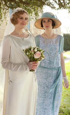 Edith and Mary- Edith's Wedding | Downton Abbey