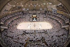 """The Igloo, saw my first hockey game at the arena. via Pittsburgh Penguins ~ """"White out in the Civic Arena"""""""