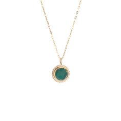 A green agate, bezel set in yellow gold, on a thin gold chain. Thin Gold Chain, Gold Necklace, Pendant Necklace, Green Agate, Jewelery, Fashion Jewelry, Pendants, Yellow, My Style