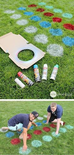 27 Best DIY Backyard Games Ideas and Designs for 2021 Family Reunion Games, Family Games, Family Reunions, Family Outdoor Games, Group Games, Outdoor Games For Kids, Outdoor Twister, Twister Game, Backyard Games