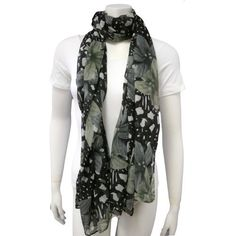 Black Multicolored Spring Floral Leopard Shawl Wrap Luxury Divas. $18.99. polyester. Imported. 100% Polyester. Cool & Lightweight