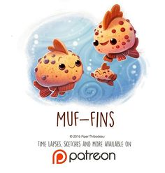 Daily Painting 1451. Muf-fins #illustration