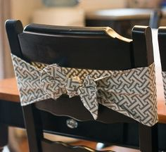 Darling DIY Chair Bows | AllFreeSewing.com