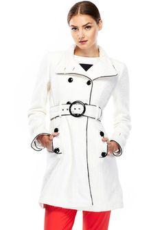 RUNWAY Patent Contrast Dressy Wool Coat, http://www.ideeli.com/invite/bestdeal2013
