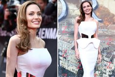 Angelina Jolie shows off her new figure after having a preventative double mastectomy