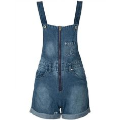 Blue Light Washed Zip Front Pocket Detail Denim Overalls ($52) ❤ liked on Polyvore featuring jumpsuits, rompers, denim overalls, denim overall, denim bib overalls, overall and blue bib overalls