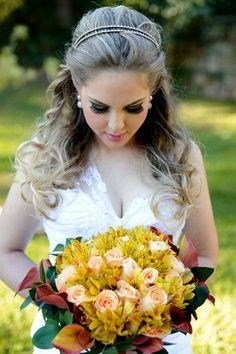 Penteados para noiva - Solto
