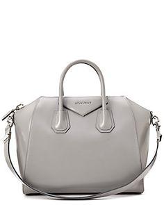 "Givenchy ""Antigona"" Medium Box Leather Satchel"