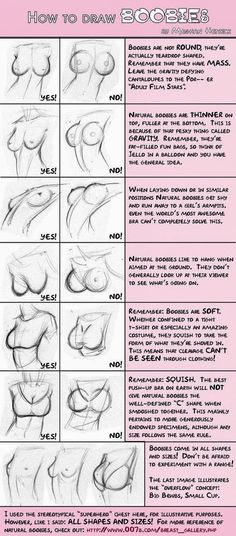 All right pervs... here is how to draw boobs. smh. You boys really need to get out from behind the pc.