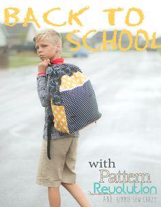 Back to School BOY Style — Pattern Revolution #iloverileyblake #backtoschool #backpack #simplesimon #fourcorners