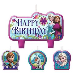 Disney Frozen Birthday Candle Set Assorted Size Party Decoration (4 Pack), Multi Color, . - http://partysuppliesanddecorations.com/disney-frozen-birthday-candle-set-assorted-size-party-decoration-4-pack-multi-color.html