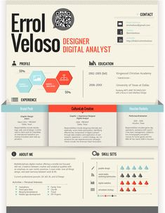 23 creative cv resumes Fantastic Examples of Creative Resume Designs
