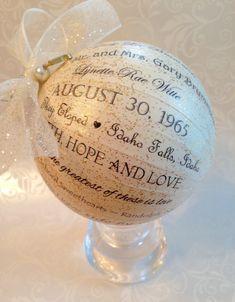 50th Anniversary Gift For Pas Friends Personalized Ornament Golden Idea 25th 30th 40th 60th