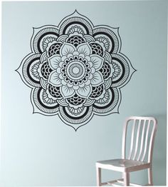 Mandala Wall Decal Flower namaste Vinyl Sticker Art Decor Bedroom Design Mural flower Buddha namaste yoga living room