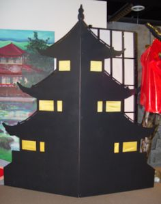 Backdrop for oriental party