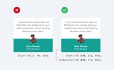 7 Practical Tips for Cheating at Design – Refactoring UI – Medium. Don't have grey secondary text on colored background. Use the background color Flat Web Design, Web Design Tips, Web Design Inspiration, Page Design, Design Websites, Design Tutorials, Website Layout, Web Layout, Layout Design
