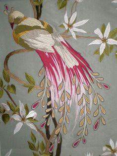 Garden room gardens snow and house - Nina campbell paradiso wallpaper ...