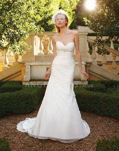 Fit N Flare Chiffon Sweetheart With Ruching Floor Length Beach Wedding Dress