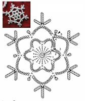 Tina's handicraft : 23 patterns for christmas ornament Crochet Snowflake Pattern, Crochet Motif Patterns, Crochet Stars, Crochet Snowflakes, Crochet Blocks, Crochet Diagram, Crochet Stitches, Crochet Flowers, Crochet Winter
