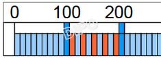 Číselná osa 0-1000 10x100cm (pro magn.tabule)