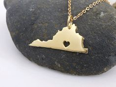 #virginiaisforlovers #Virginia Necklace  18K Gold Plated Necklace  by PRECIOUSWINGSCOM, $55.00