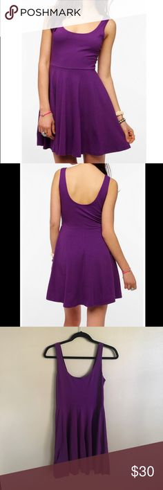 Urban Outfitters Skater Dress Sparkle and Fade Purple Cotton Fit and Flare Dress Urban Outfitters Dresses