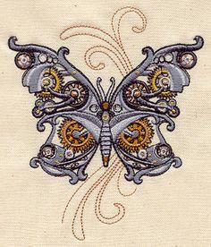 Steam Motifs - Butterfly design (UT2356) from UrbanThreads.com