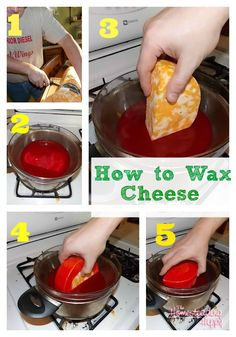 The Homesteading Hippy | How to wax cheese for storage without refrigeration {tutorial} http://thehomesteadinghippy.com