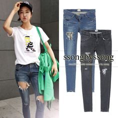 Two of Us Distressed Skinny Jeans