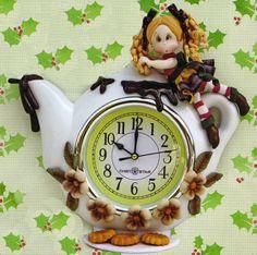 Reloj Navideño por Lulú Mendoza