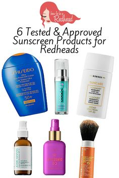 6 Tested & Approved Sunscreen Products for Redheads