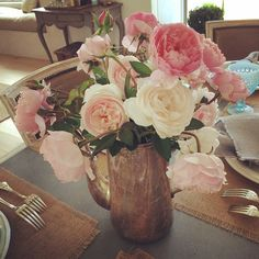 David Austin roses from the garden work for me!  #patinafarm #smelltheroses