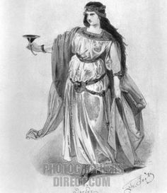 Richard Wagner s Tristan and Isolde . Costume design for Isolde . For ...