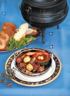 This fragrant vegetarian potjiekos is a great dish for a lazy Sunday afternoon braai. The vegetables are braised in red wine with warm spices like star anise, cloves and bay leaves; it makes a hearty main course but can also be served as accompaniment to meat cooked over the coals