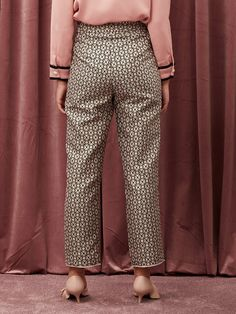 Hostess Jacquard Tapered Trousers – Sister Jane