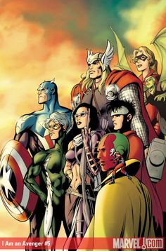 This is the cover to I Am An Avenger #5 by Alan Davis. I do like a group cover drawn by Alan Davis.