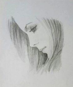 Art Drawings Sketches Simple, Pencil Drawings Of Girls, Girl Drawing Sketches, Pencil Sketch Drawing, Cartoon Girl Drawing, Realistic Drawings, Beautiful Drawings, Horse Drawings, Pencil Portrait Drawing