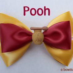 pooh hair bow