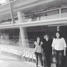 Avui visita a la biblioteca de Blanes. Moltes gràcies per la visita i amb ganes de continuar treballant amb els joves #Esparreguera